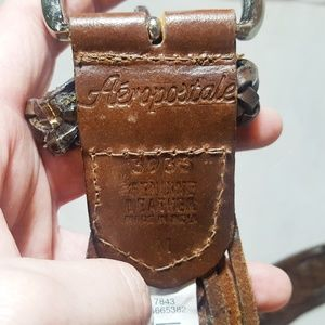 Aeropostale Accessories - Aeropostale Brown Genuine Leather Woven Belt M